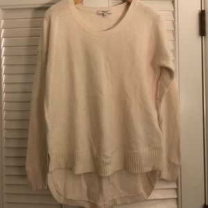 Madewell Chronicle Texture Sweater Cream Size M